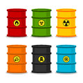 Free Barrels With Dangerous Substances Stock Photo - 33667280