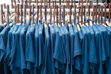 Clothes And Wood Coat Hanger Stock Photography