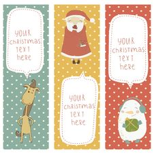 Free A Set Of Christmas And New Year Banners.Santa Clau Stock Photos - 33662163