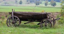 Free Old Wooden Wagon Royalty Free Stock Photos - 33665288