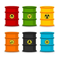 Free Barrels With Dangerous Substances Stock Photo - 33667280