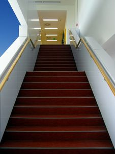 Free Stairs In Modern Building Royalty Free Stock Photography - 33697127