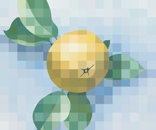 Apple Image Made Up Of Squares Stock Photography