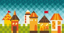 Free Colorful Fairy Tale City Stock Photography - 33698882