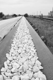 Free The Chalk Way BW Stock Photo - 33698940