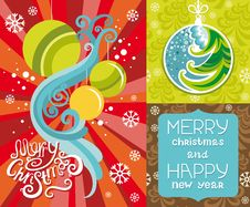 Free Happy New Year Lettering Greeting Card. Royalty Free Stock Photos - 33699138
