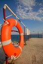 Free Orange Lifebuoy Ring Royalty Free Stock Photography - 3373817
