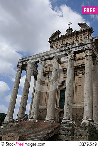 Free Roman Forum Church Royalty Free Stock Images - 3379549