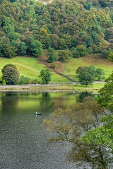 Free Canoeing On Rydal Water Royalty Free Stock Photos - 3370218