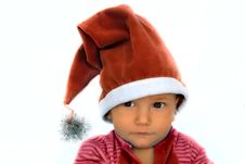 Free Santa Baby Portrait Stock Photo - 3370380