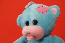 Free Blue Teddy Bear 1 Stock Photography - 3373422