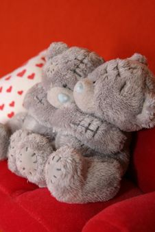 Free Grey Teddy Bears 1 Stock Photos - 3373623