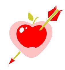 Free Arrow In Apple Heart Stock Photos - 3373983