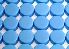 Free Blue Water Bottle Caps Stock Image - 3374001