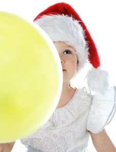 Baby In Santa Claus Red Hat Royalty Free Stock Photos