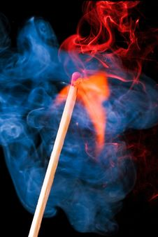 Free Burning Match Stock Images - 3374124