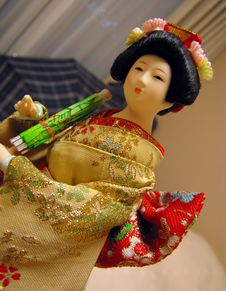 Free Geisha Doll Royalty Free Stock Images - 3374249