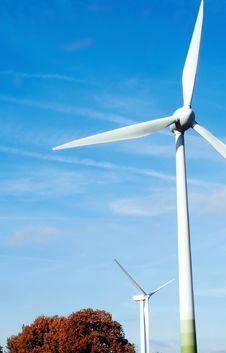 Energy Turbine On Blue Sky Stock Photos