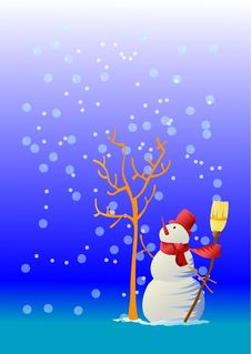 Free The Hopeful Snowman Stock Photo - 3374990