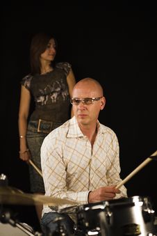 Free Drummer Playing Royalty Free Stock Images - 3377029