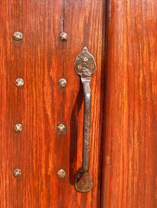 Antique Brass Door Handle Royalty Free Stock Photo