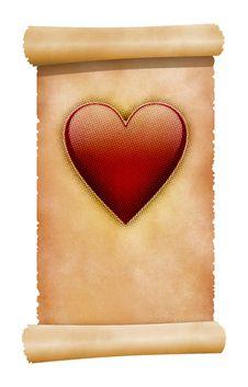 Free Heart On Scroll Stock Image - 3377831