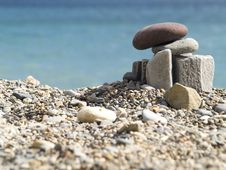 Free Stones On The Beach Stock Images - 3377834
