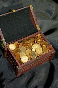 Money In Chest Stock Photography