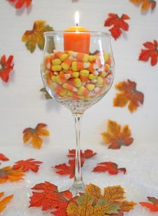 Free Corn And Candle. Stock Photography - 3378242