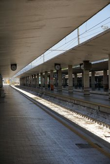 Emtpy Train Station In Italy Stock Photography
