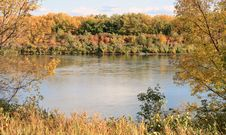 Free Autumn River Framed Stock Photography - 3379672
