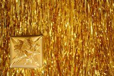 Free Christmas - Golden Theme Stock Photography - 3379932