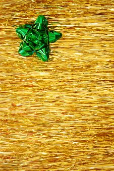 Free Christmas - Green Ribbon Royalty Free Stock Photos - 3379978