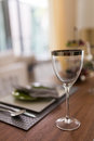 Free Wine Glass With Metallic Rim Royalty Free Stock Photography - 33700607