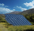 Free Solar Energy Panel Collectors Countryside Stock Photo - 33704490