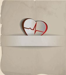 Free Vintage Cardiogram Royalty Free Stock Photography - 33700877