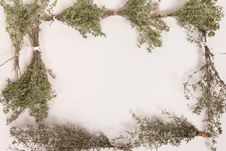 Free Thyme And Savory Herb Frame Royalty Free Stock Image - 33701986