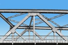 Free Vintage Iron Bridge With Blue Sky Stock Photo - 33702900