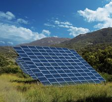 Solar Energy Panel Collectors Countryside Stock Photo