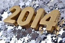 2014 Year Golden Figures Royalty Free Stock Photo