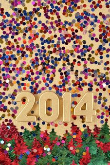 Free 2014 Year Golden Figures Stock Images - 33706694