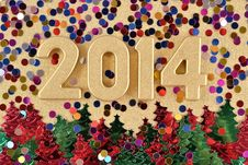 Free 2014 Year Golden Figures Royalty Free Stock Image - 33706706