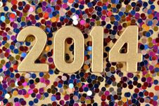 Free 2014 Year Golden Figures Stock Images - 33706784