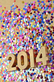 Free 2014 Year Golden Figures Stock Photo - 33706800