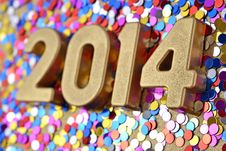 Free 2014 Year Golden Figures Royalty Free Stock Image - 33706806