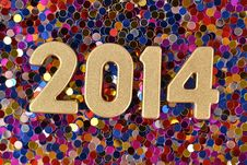 Free 2014 Year Golden Figures Royalty Free Stock Image - 33706866