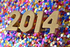 Free 2014 Year Golden Figures Stock Images - 33706884