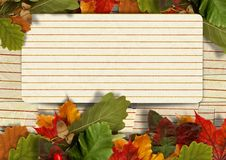Free Vintage Paper Autumn Background With Maple Leaves And  With Postcard Stock Photos - 33707513