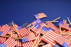 Free Abstract Background Of USA Stars And Stripes Close Up With Copy Space. Stock Photos - 33709973