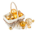 Free Golden Christmas Balls Royalty Free Stock Photo - 33714035